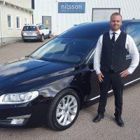 Nilsson 3-d. begravningsbil till Strömstads Begravningsbyrå