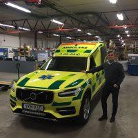 Premedic har hämtat flera Nilsson XC90 Ambulans till Skåne
