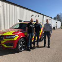 Firebrigade Enköping Håbo picks up new commandercar